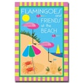 Trademark Fine Art Flamingoes & Friends at the Beach by Grace Riley 1 18x24 Inches