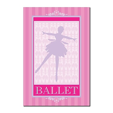 Trademark Fine Art Ballet in Pink I by Grace Riely-Gallery Wrapped Canvas