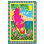 Trademark Fine Art Parrot in Paradise by Grace Riley-