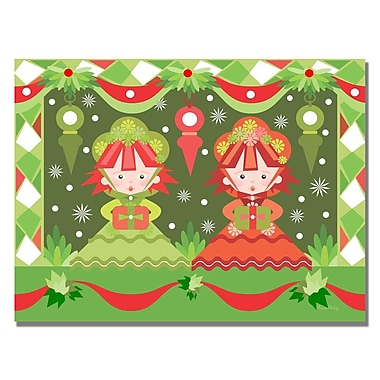 Trademark Fine Art Grace Riley 'Baby's First Christmas II' Canvas Art
