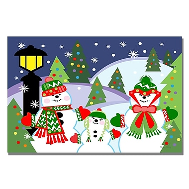 Trademark Fine Art Grace Riley 'Let it Snow' Canvas Art