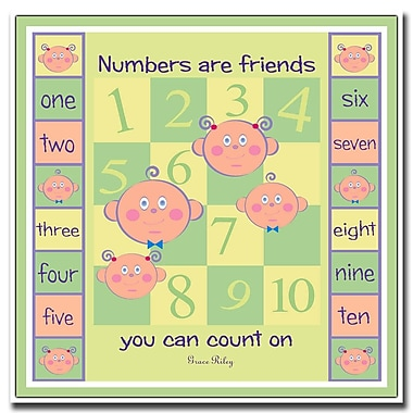 Trademark Fine Art Numbers are Friends by Grace Riley-Canvas Art 24x24 Inches