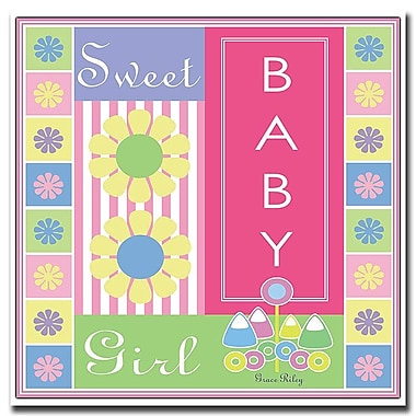 Trademark Fine Art Sweet Baby Girl by Grace Riley-Canvas Art Ready to Hang 18x18 Inches
