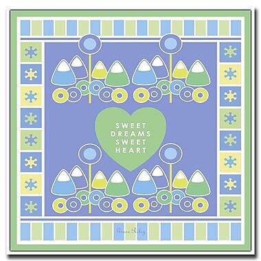 Trademark Fine Art Sweet Dreams Sweet Heart 'Boy' by Grace Riley-18x18 18x18 Inches