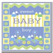 Trademark Fine Art Sweet Baby Boy by Grace Riley-Canvas Art 24x24 Inches