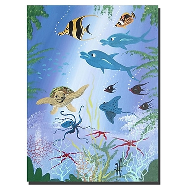 Trademark Fine Art Sea Turtle by Herbet Hofer-Canvas Ready to Hang