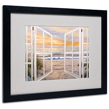 Joval 'Elongated Window' Framed Matted Art - 11x14 Inches - Wood Frame