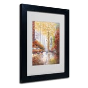 Trademark Fine Art Joval 'French Street Scene II' Matted Art Black Frame 11x14 Inches
