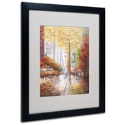 Joval 'French Street Scene II' Matted Framed Art - 11x14 Inches - Wood Frame