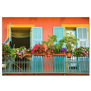 Trademark Fine Art Veranda Garden by AIANA Canvas Art Ready to Hang 14x19 Inches