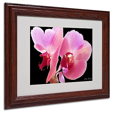 Kathie McCurdy 'Orchid' Matted Framed Art - 16x20 Inches - Wood Frame
