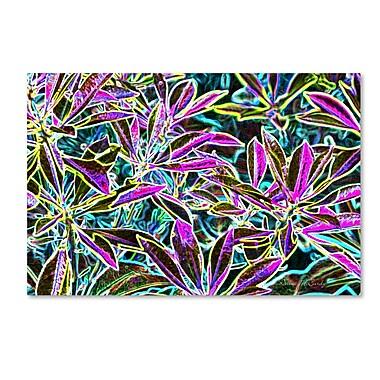 Trademark Fine Art Kathie McCurdy 'Tropical Neon' Canvas Art