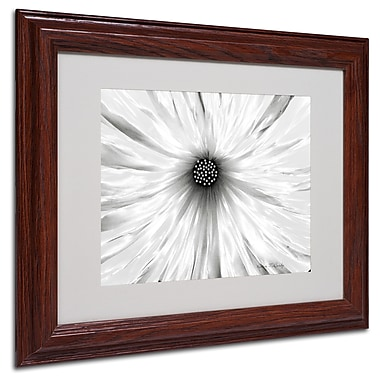 Kathie McCurdy 'White Garden' Matted Framed Art - 16x20 Inches - Wood Frame