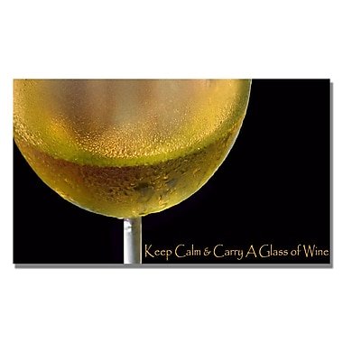Trademark Fine Art Kathie McCurdy 'Golden Wine' Canvas Art 18x32 Inches