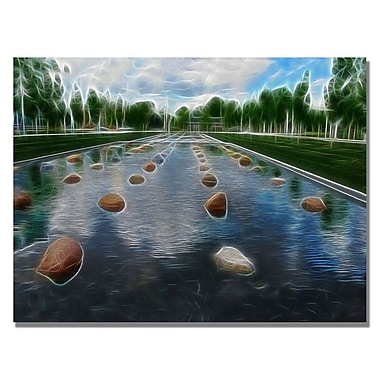 Trademark Fine Art Kathie McCurdy 'Peaceful Water Abstract' Canvas Art 26x32 Inches