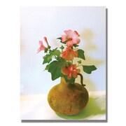 Trademark Fine Art Kathie McCurdy 'Vintage Flower' Canvas Art 18x24 Inches