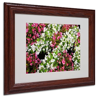 Kathie McCurdy 'Begonia Garden' Matted Framed Art - 16x20 Inches - Wood Frame