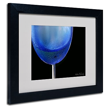 Trademark Fine Art Kathie McCurdy 'Blue Wine Glass' Matted Framed Art