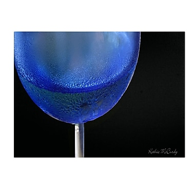 Trademark Fine Art Kathie McCurdy 'Blue Wine Glass' Canvas Art 18x32 Inches