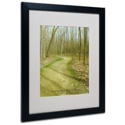 Kathie McCurdy 'Does This Path Have a Heart' Matted Framed - 11x14 Inches - Wood Frame