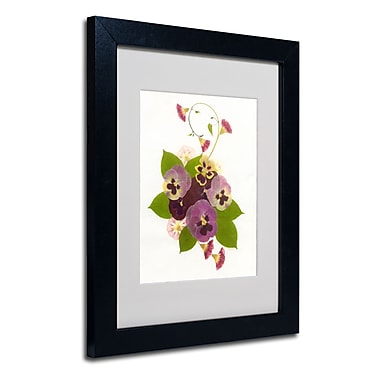 Trademark Fine Art Kathie McCurdy 'Frivolity' Matted Art Black Frame 16x20 Inches