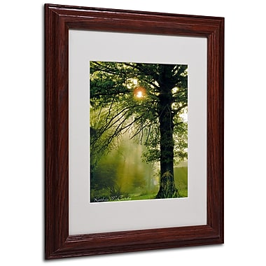 Kathie McCurdy 'Magical Tree' Matted Framed Art - 16x20 Inches - Wood Frame