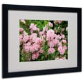Kathie McCurdy 'Pink Roses' Matted Framed Art - 11x14 Inches - Wood Frame