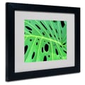 Trademark Fine Art Kathie McCurdy 'Tropical Leaf' Matted Art Black Frame 11x14 Inches