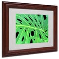 Kathie McCurdy 'Tropical Leaf' Matted Framed Art - 16x20 Inches - Wood Frame
