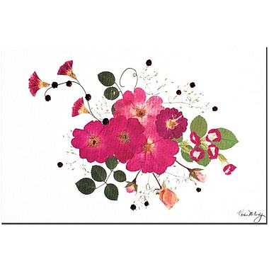 Trademark Global Kathie McCurdy 'Pink Roses' Canvas Art