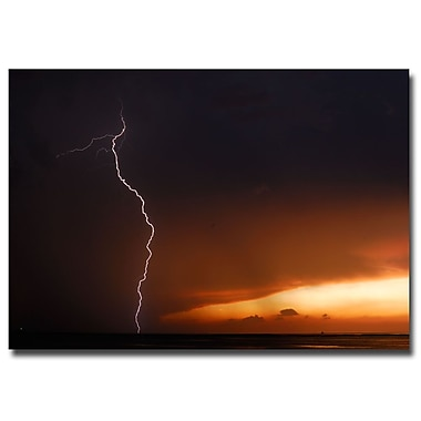 Trademark Fine Art Kurt Shaffer 'Lightning Sunset I' Canvas Art 35x47 Inches