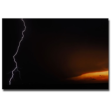 Trademark Fine Art Kurt Shaffer 'Lightning Sunset VII' Canvas Art 30x47 Inches
