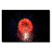 Trademark Fine Art Kurt Shaffer 'Abstract Fireworks II' Canvas Art 30x47 Inches