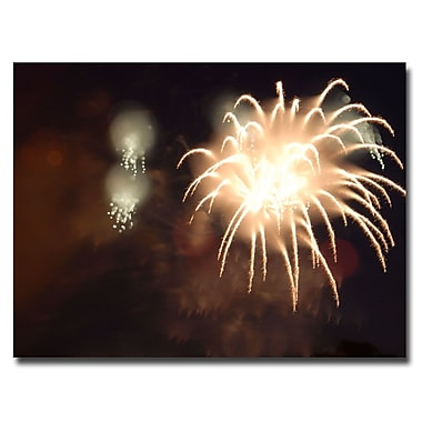 Trademark Fine Art Kurt Shaffer 'Abstract Fireworks IV' Canvas Art 18x24 Inches