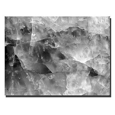 Trademark Fine Art Quartz Abstract by Kurt Shaffer-Gallery Wrapped 24x32 Inches