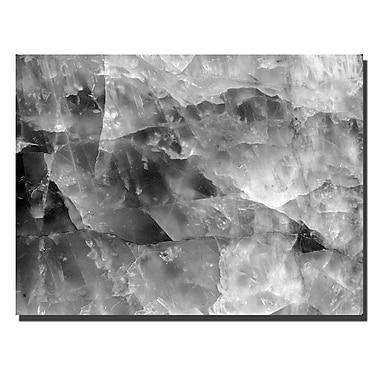 Trademark Fine Art Kurt Shaffer 'Quartz Abstract' Canvas Art 16x24 Inches