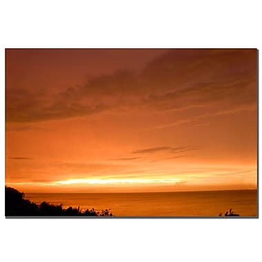 Trademark Fine Art Kurt Shaffer 'Great Lake Sunset' Canvas Art