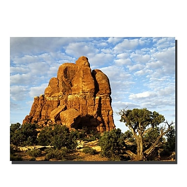 Trademark Fine Art Monument by Kurt Shaffer-Gallery Wrapped Canvas 24x32 Inches