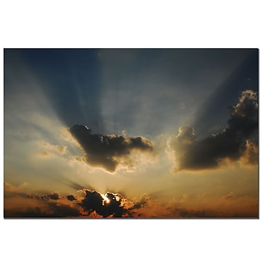 Trademark Fine Art Beautiful Sky II by Kurt Shaffer-Gallery Wrapped