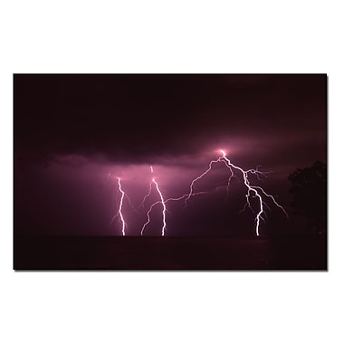 Trademark Fine Art Lake Lightning by Kurt Shaffer-Gallery Wrapped Canvas