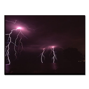 Trademark Fine Art Lake Lightning III by Kurt Shaffer Canvas Art