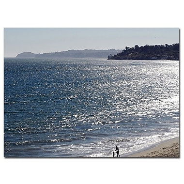 Trademark Fine Art Malibu by Kurt Shaffer-Ready to hang Gallery Wrapped Canvas 18x24 Inches