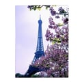 Trademark Fine Art Kathy Yates 'Eiffel Tower with Blossoms' Canvas Art 22x32 Inches