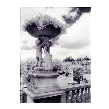 Trademark Fine Art Kathy Yates 'Jardin du Luxembourg' Canvas Art 14x19 Inches