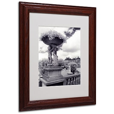 Kathy Yates 'Jardin du Luxembourg' Matted Framed Art - 16x20 Inches - Wood Frame