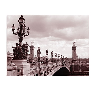 Trademark Fine Art Kathy Yates 'Pont Alexandre III Bridge' Canvas Art 16x24 Inches