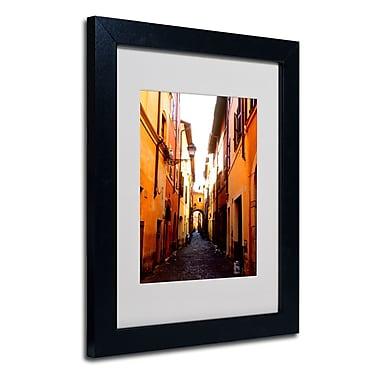 Trademark Fine Art Kathy Yates 'Campo de' Fiori Alley' Matted Art Black Frame 16x20 Inches