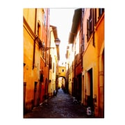 Trademark Fine Art Kathy Yates 'Campo de' Fiori Alley' Matted Art Black Frame 11x14 Inches