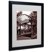 Kathy Yates 'Le Metro as Art 2' Matted Framed Art - 11x14 Inches - Wood Frame