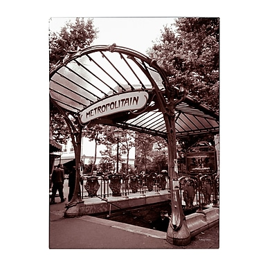 Trademark Fine Art Kathy Yates 'Le Metro as Art 2' Matted Art Black Frame 11x14 Inches